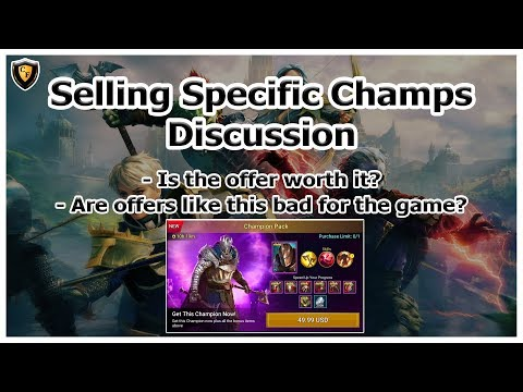 RAID Shadow Legends | Selling Champs Discussion | Is it bad for the game?