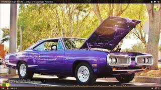 1970 Plymouth Super Bee ( 383 c.i. ) / Cars by Brasspineapple Productions