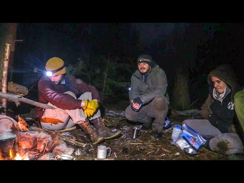 Goldenage Bushcraft Campout - Fire Starting, Fried Chicken, Spoon Carving