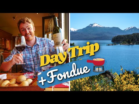 BARILOCHE DAY TRIP: Nahuel Huapi BOAT CRUISE 🛥️ + FONDUE FOR TWO at Llao Llao Hotel in Argentina! 🫕