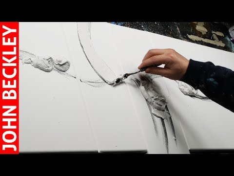 Abstract Painting demonstration in Acrylics with modelling paste | Tolelia