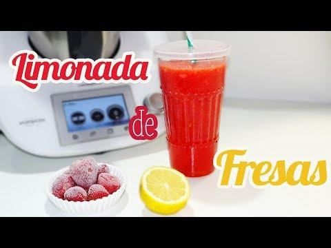 Limonada de fresas Thermomix