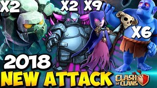 PEBOWI RUSH: NEW TH9 STRONG WAR ATTACK STRATEGY 2018   Clash of Clans