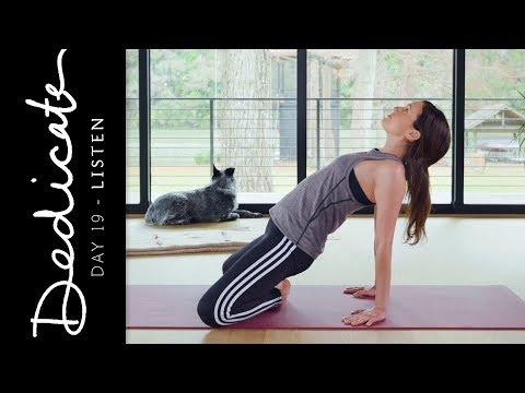 Dedicate - Day 19 - Listen  |  Yoga With Adriene