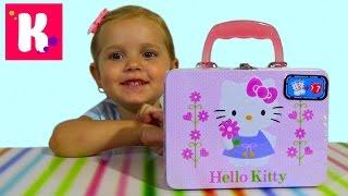 Хелоу Китти чемоданчик сюрприз распаковка Hello Kitty surprise box unboxing