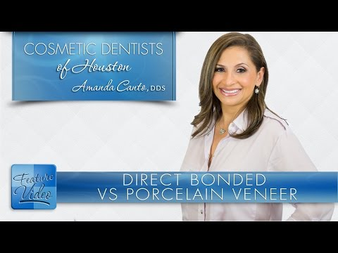 Difference Between Direct Bonded and Porcelain Veneers - Cosmetic Dentists of Houston