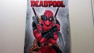 Speed Drawing Deadpool - MARVEL COMICS