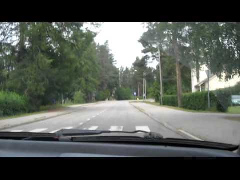 Sightseeingdrive in Rautavaara commune, Finland.MOV