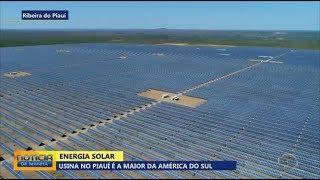 Usina solar no Piauí pode abastecer 300 mil casas