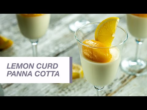 Lemon Curd Panna Cotta | Food Channel L Recipes