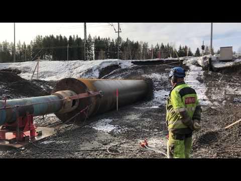 1800 mm rörrammning vid finsk-ryska gränsen