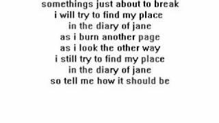 breaking benjamin- diary of jane with lyrics