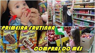 COMPRAS DO MÊS DE NOVEMBRO - A PRIMEIRA FRUTINHA QUE JOÃO COMEU