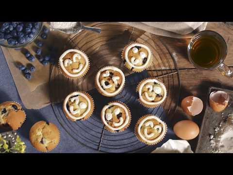 Emoji-Muffins mit Arla Buko Frischkäsecreme