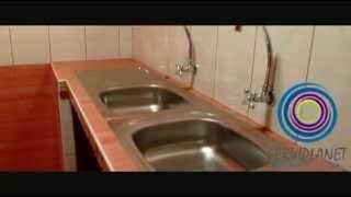 Cocina Con Muble De Concreto Y Enchapado Con Ceramicos Y Con