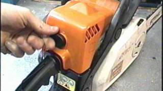 HOW TO ADJUST IDLE SPEED  on STIHL MS 180C Chainsaw