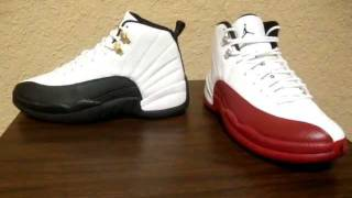 879ed851c2a Air Jordan 12 Battle  Taxi XII Vs. White Red XII - YouTube