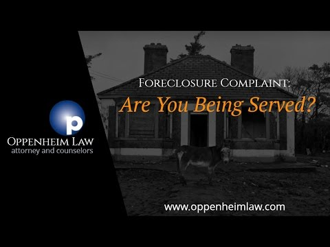 Oppenheim Law and Foreclosure Complaints