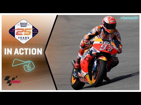 Honda in action: HJC Helmets Motorrad Grand Prix Deutschland
