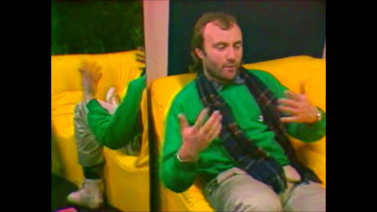 Phil Collins on France Regions 3 Grenoble (1985 No Jacket Required Tour)