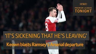 Keown 'sickened' by Aaron Ramsey's departure from Arsenal to Juventus