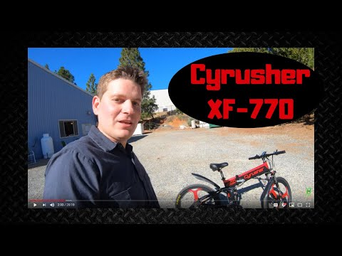 Cyrusher XF-770 Electric Bike Review (and I'm giving it away!)