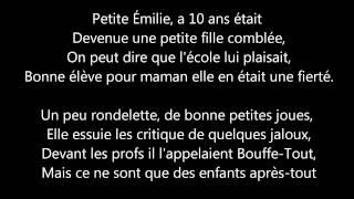 Keen'v - Petite Emilie (paroles).wmv