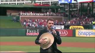 Cody Sings The National Anthem At The Texas Rangers Game