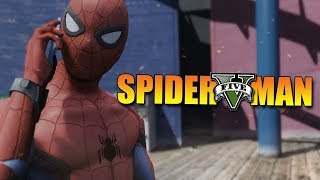 GTA 5 Mod - SPIDERMAN HOMECOMING !! - Momen Lucu GTA width=