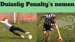 Duizelig penalty's nemen - Kleine voetballers
