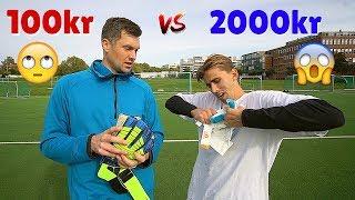 Tester Keeperhansker - 2000kr vs 100kr 🤔