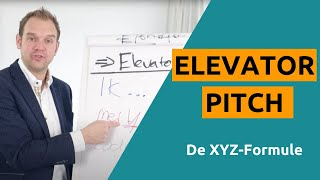 Elevator pitch voorbeeld