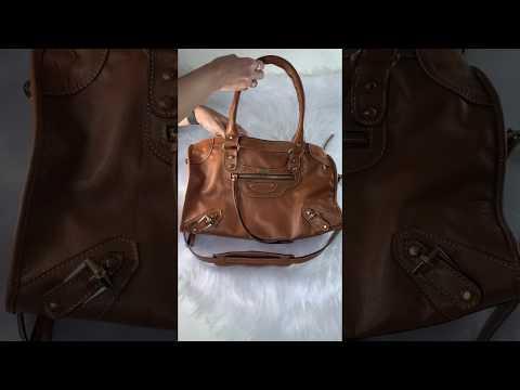 BARCELONA TRADICIONAL Bolsa grande couro legítimo caramelo