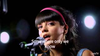 Somewhere Only We Know - Lily Allen - Lyrics (HQ)