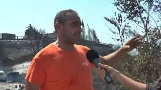 CATANZARO: PINETA DEVASTATA DAL FUOCO E RESIDENTI EVACUATI