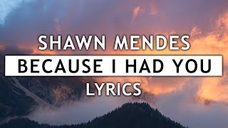 Shawn Mendes - Because I Had You (Lyrics)