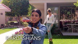 KUWTK | Kardashian Sisters Visit Their Grandparents' Old House | E!