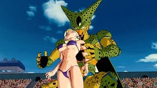 Cell Absorbs Android 18 And 21 And Achieves His Golden Form | DB Xenoverse 2