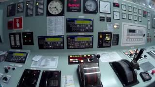 Start up huge ship diesel engine