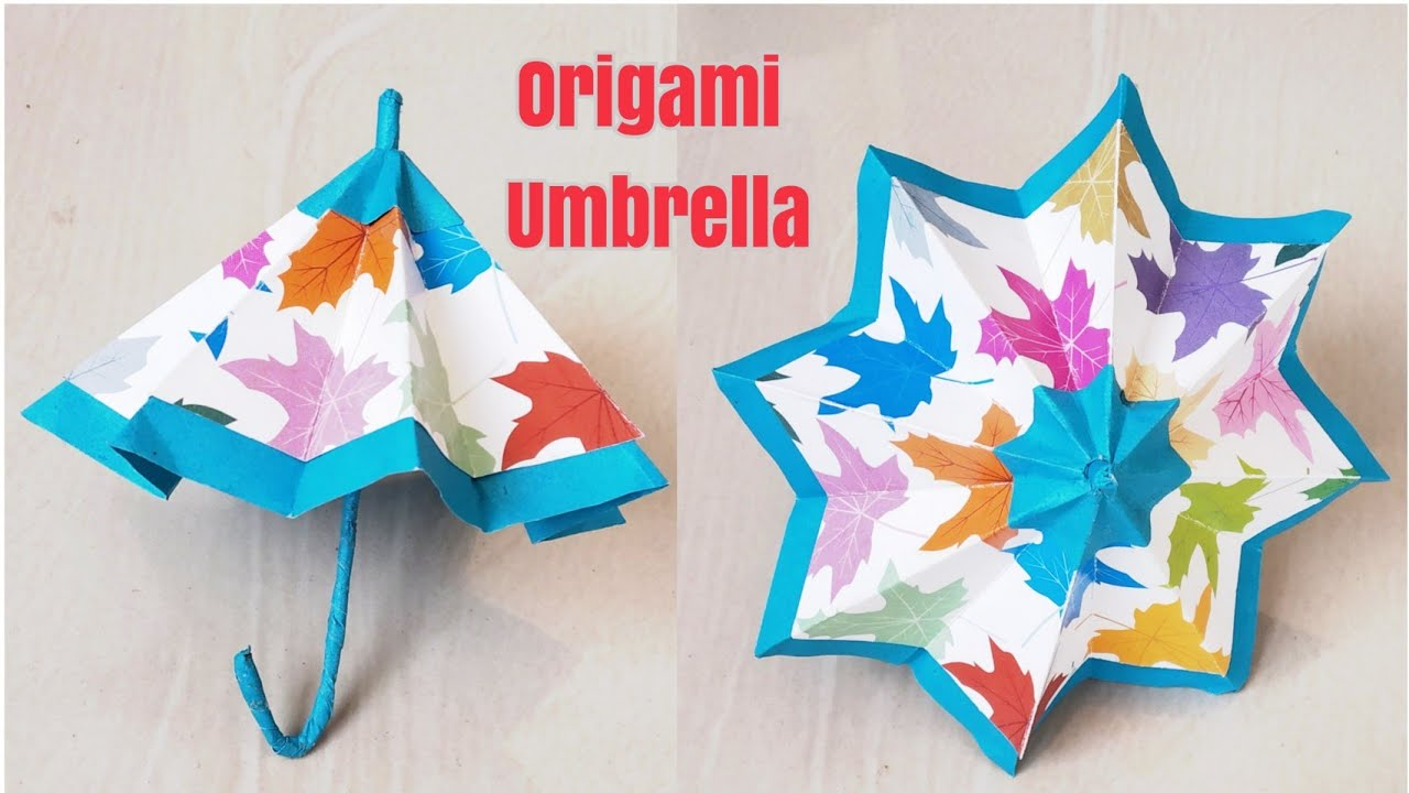 Download Thumbnail For How To Make A Mini Umbrella With Paper