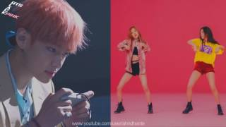 [MASHUP] BTS & BLACKPINK - 불타오르네 (Fire) X 휘파람 (Whistle) (Split Headset Ver.)