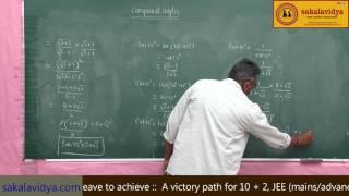 TRIGONOMETRY COMPOUND ANGLES PART   1 width=