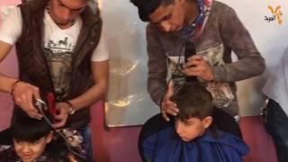حملة طوعية في الزبير لقص شعر التلاميذ المتعففين والأيتام والنازحين