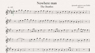 NOWHERE MAN:  Eb Inst (saxo alto, saxo barítono...) (partitura con playback)