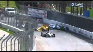 Indycar 2014 Long Beach. Big one