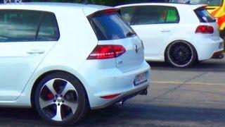 VW Golf 7 GTI vs GOLF 6 R Drag Race Viertelmeile Rennen Acceleration Beschleunigungsrennen