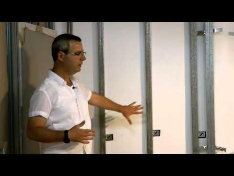 סרטון: טיח יבש: חיפוי קירות בגבס לצורך יישור ותיקון
