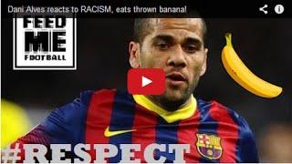 Dani Alves reacts to RACISM, eats thrown banana!