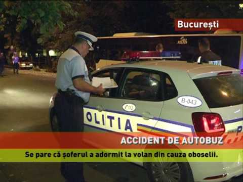 Accident de autobuz, în Capitală