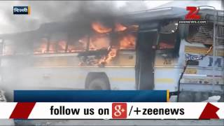 Delhi: Bus catches fire in Sarai Kale Khan
